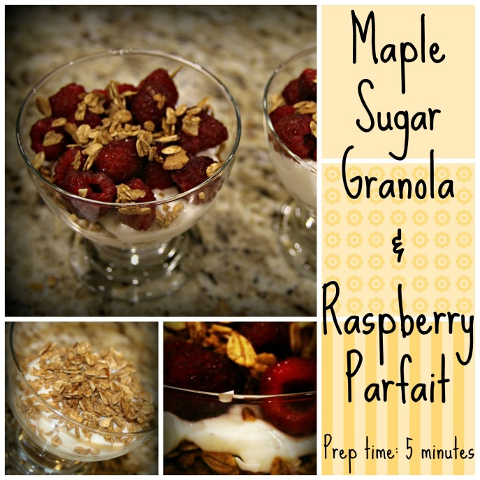 Maple Sugar Granola & Raspberry Parfait
