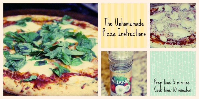 Unhomemade Pizza Instructions